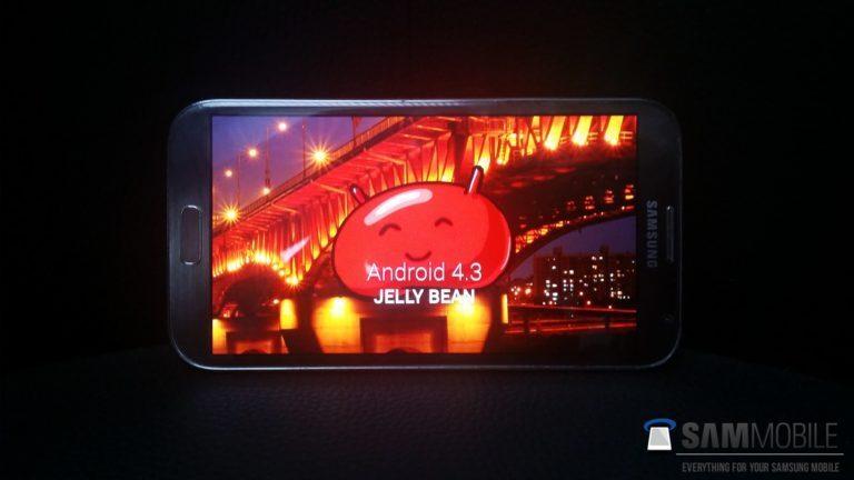 Samsung Galaxy Note II (GT-N7100) Comienza el despliegue oficial de la actualización a Android 4.3 Jelly Bean