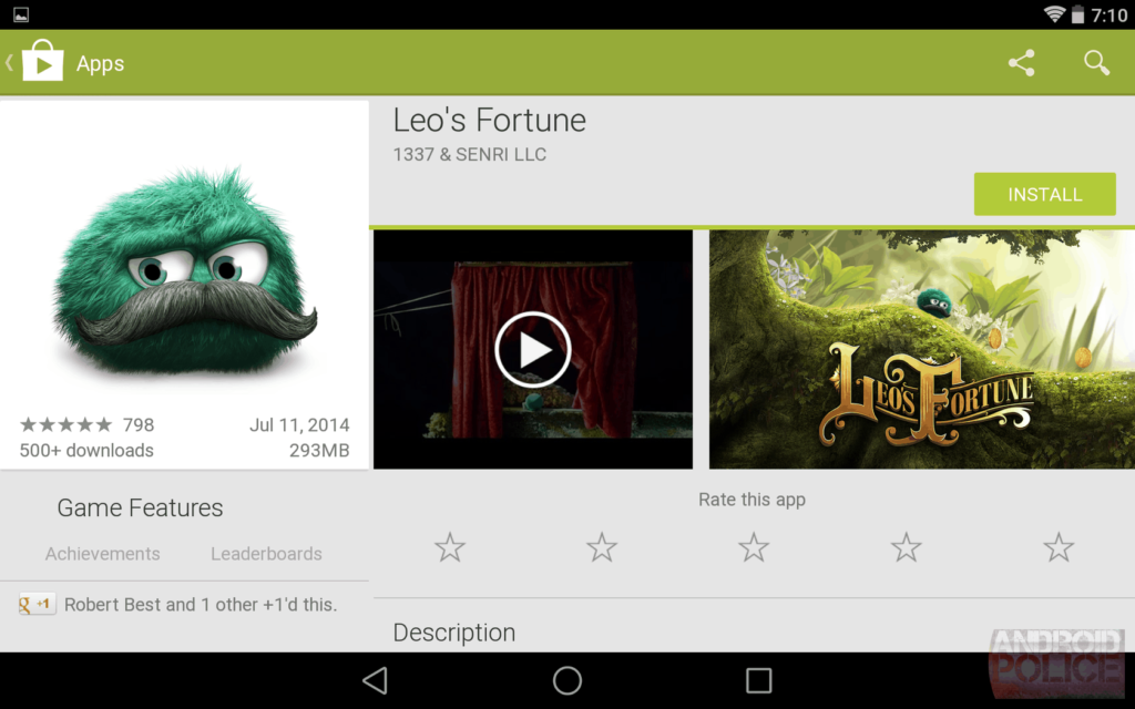 Google Apps jouent la conception des équipements 1024x640 En images: belle interface filtrée qui sera Google Play matière de conception