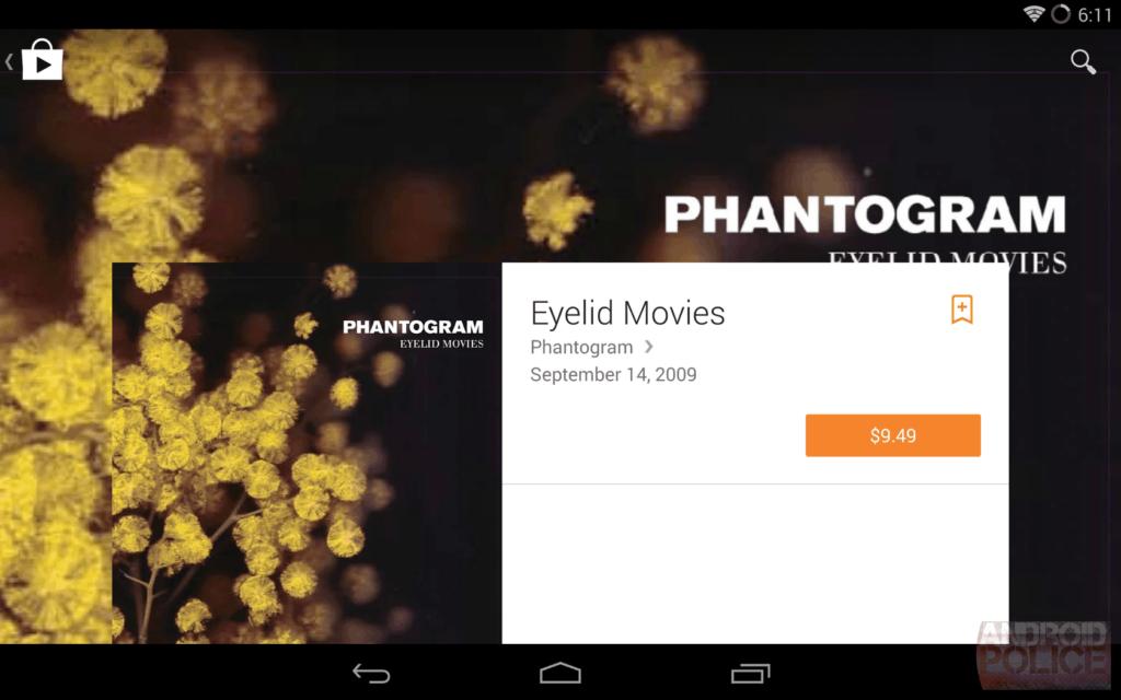 google films jouent la conception des équipements 1024x640 En images: belle interface filtrée qui sera Google Play matière de conception