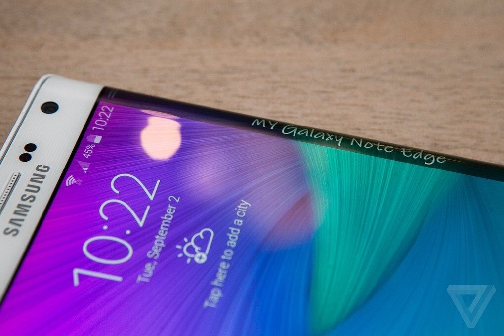 Galaxy Note Samsung Edge edge display 6 innovates again with its new Galaxy Note Edge, a second screen in one of the edges