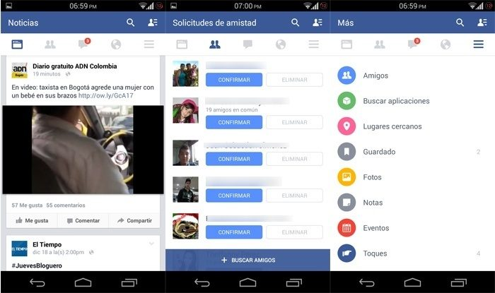 new android facebook Facebook for Android has a new visual design