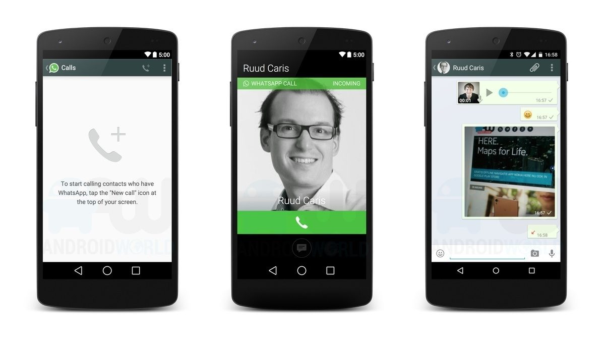 whatsapp android calls Voice calls will reach WhatsApp in 2015, so will look