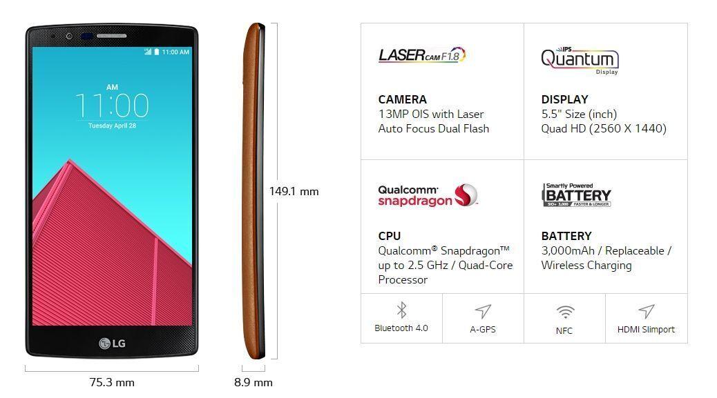 Lg G4 Dise 241 O Y Especificaciones 9 Colombia Android