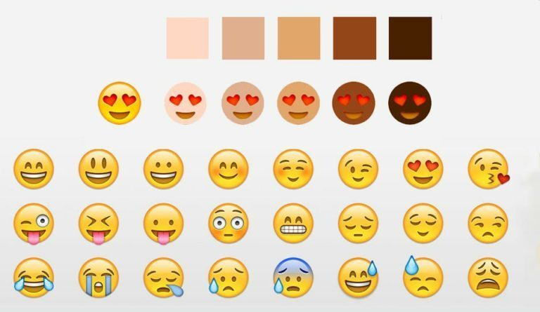 Nuevos colores para emojis de Whatsapp