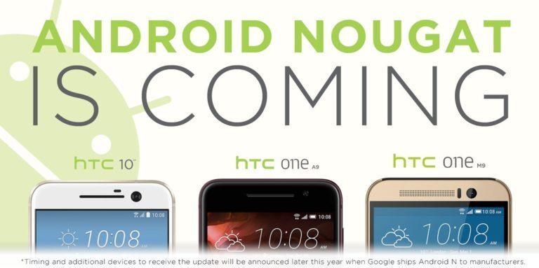 HTC Confirma Actualización A Android Nougat Para los HTC One M10, A9 y M9
