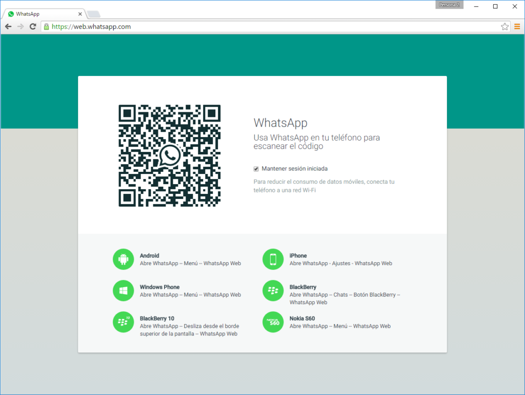 whatsapp web código