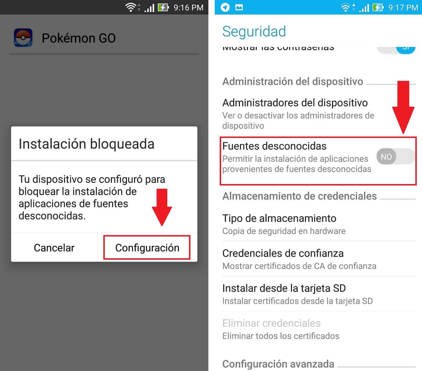 instalación pokemon go