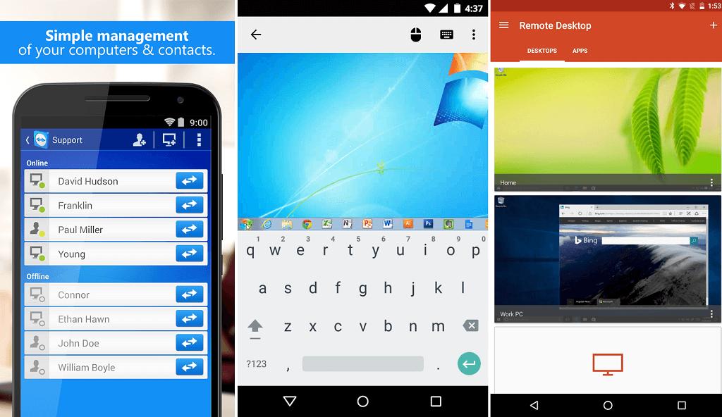 Aplicaciones de Acceso remoto en Android