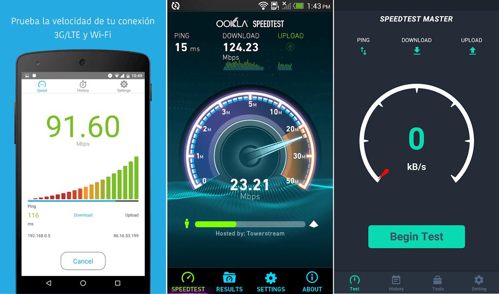 Aplicaciones para medir velocidad de conexión en Android