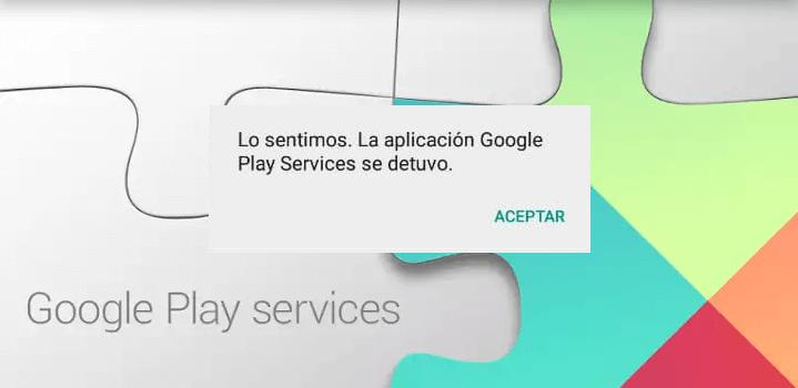 la aplicación Google Play services se detuvo