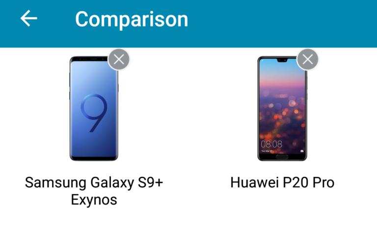 Aplicación para comparar teléfonos de manera sencilla