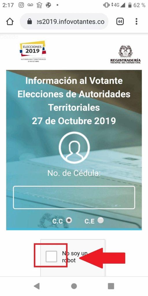 Consulta cédula votación