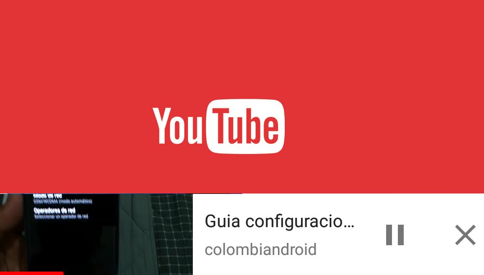 video flotante youtube