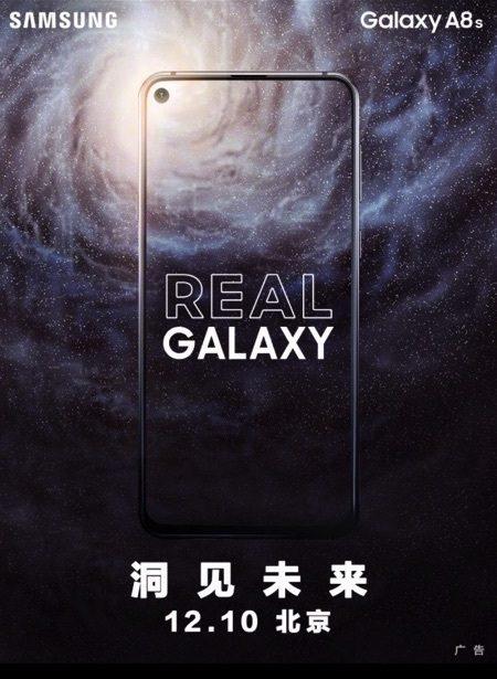 Samsung Galaxy A8s lanzamiento