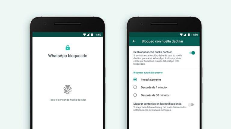Cómo bloquear WhatsApp con la huella en Android