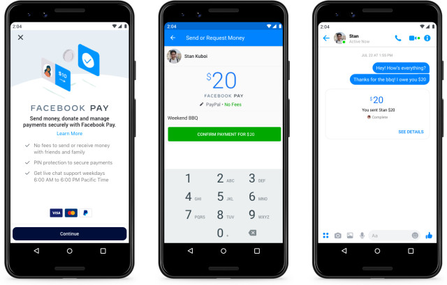 Facebook Pay nuevo sistema de pago para  Facebook, Messenger, Instagram y WhatsApp