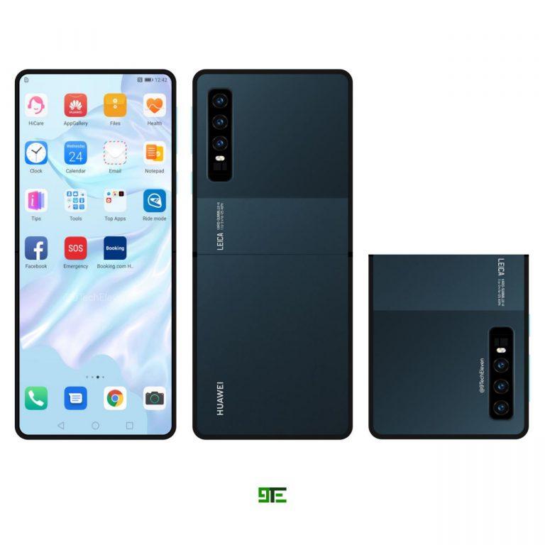 Una patente revela el nuevo teléfono con pantalla Plegable de Huawei