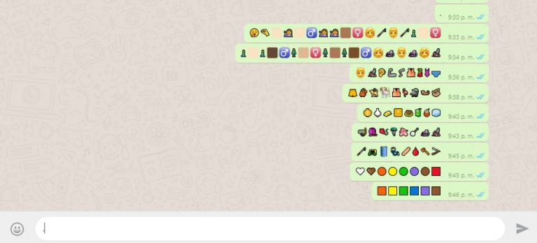 WhatsApp Beta agrega más de 70 nuevos emojis